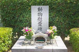 千葉県動物愛護センターの動物慰霊碑
