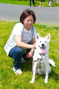ちばわん-茶々丸と渡辺 恵さん -1