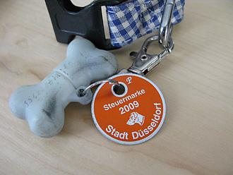 デュッセルドルフ市の犬の鑑札