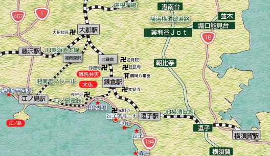 鎌倉駅周辺地図